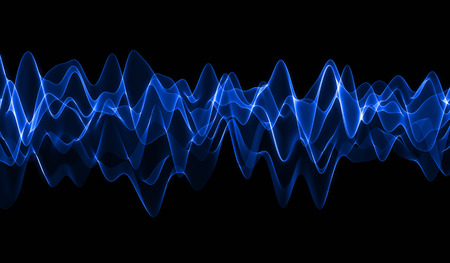 sound wave: Blue Wave Stock Photo