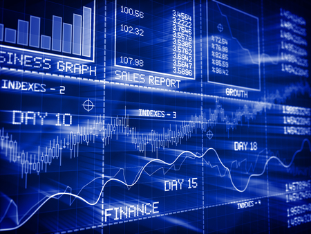 Stock Market , Focused Image. Standard-Bild