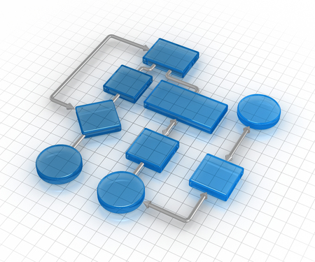 Flow chart , This is a computer generated and 3d rendered image.