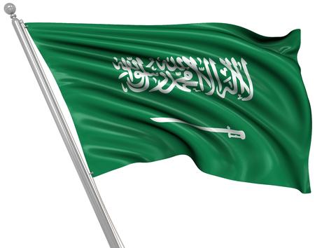 bandiera: Bandiera della Arabia Saudita, Questa è una immagine generato dal computer e 3D rendering.