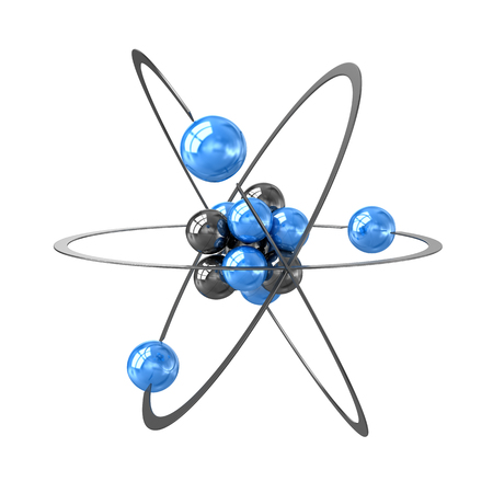 orbital: Orbital Model of Atom Stock Photo