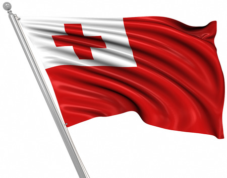 Flag of Tonga , This is a computer generated and 3d rendered image.
