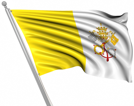 vatican city: Flag of Vatican City , This is a computer generated and 3d rendered image.