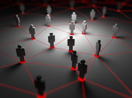 réseau de gens, cela est une image générée par ordinateur et de rendu 3D. Banque d'images