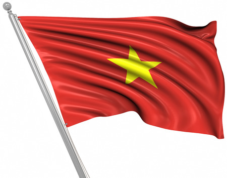 rippled: Flag of Vietnam , This is a computer generated and 3d rendered image.