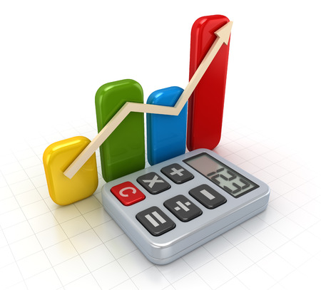 financial graph: Business concept , This is a computer generated and 3d rendered picture.