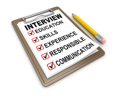 professional: Interview Checklist , This is a computer generated and 3d rendered picture.