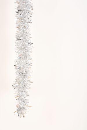festoons: Silver tinsel