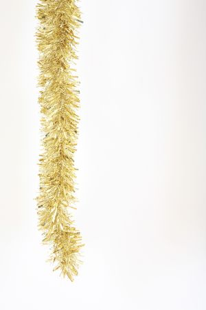 festoons: Gold tinsel