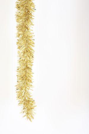 festones: Gold tinsel