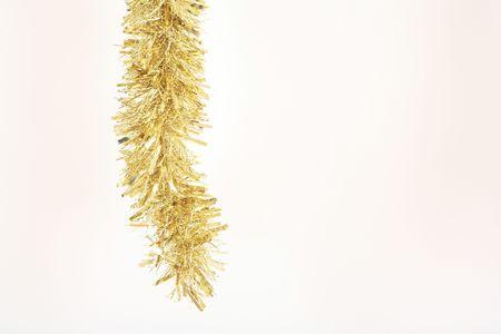 festoons: Gold tinsel