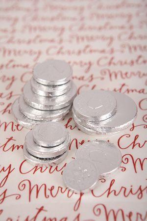 gelt: Chocolate Hanukah gelt, silver coins
