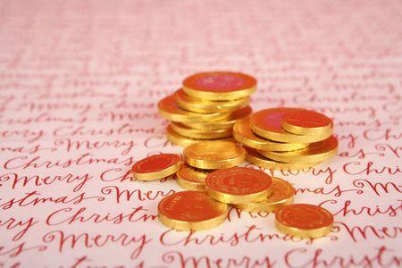 hanukah: Chocolate Hanukah gelt, gold coins