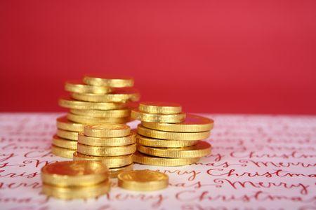 gelt: Chocolate Hanukah gelt, gold coins