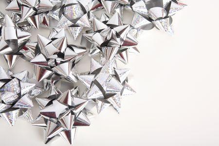 Silver  bows Stock Photo