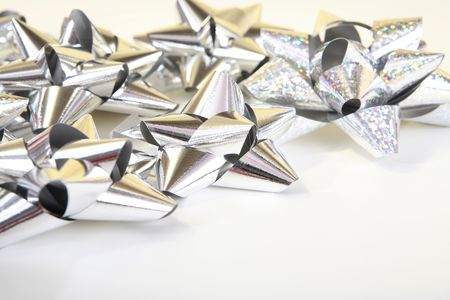 Silver  bows Stock Photo