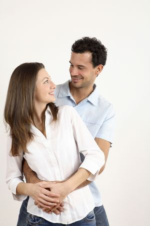 Man hugging woman from behind Stock Photo - 2966238