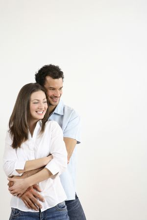 Man hugging woman from behind Stock Photo - 2966239