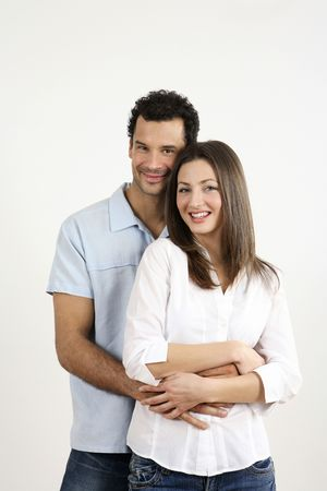 Man hugging woman from behind Stock Photo - 2966241