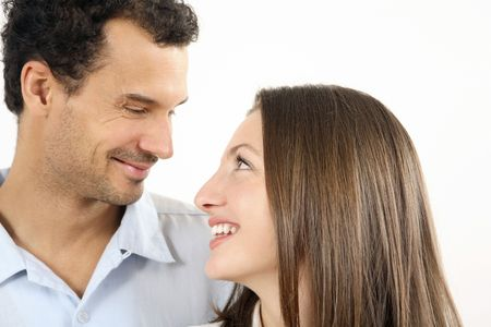 Man and woman looking at each other Stock Photo - 2966243