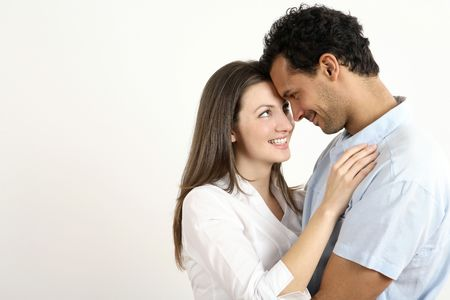 healthy llifestyle: Man and woman embracing LANG_EVOIMAGES