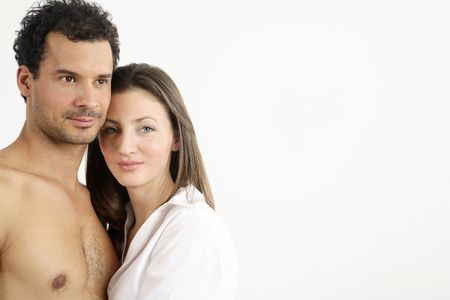 healthy llifestyle: Man and woman standing close to each other