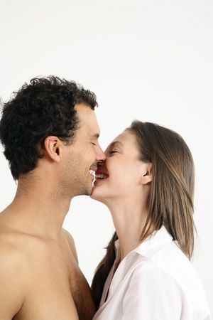 Man and woman kissing Stock Photo - 2966268