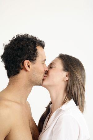 Man and woman kissing Stock Photo - 2966269
