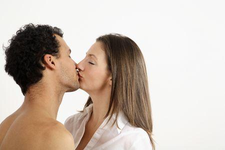 healthy llifestyle: Man and woman kissing