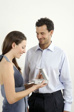 Man giving woman a present Stock Photo - 2966280
