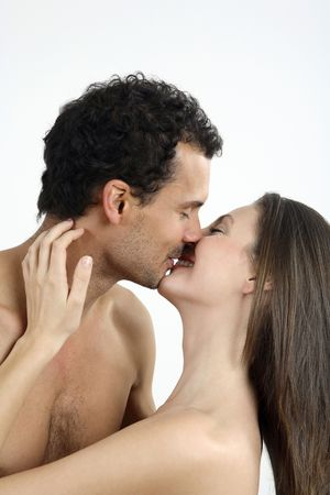 Man and woman kissing Stock Photo - 2966300