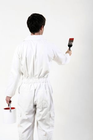 Man getting ready to paint the wall Stock Photo - 2966339