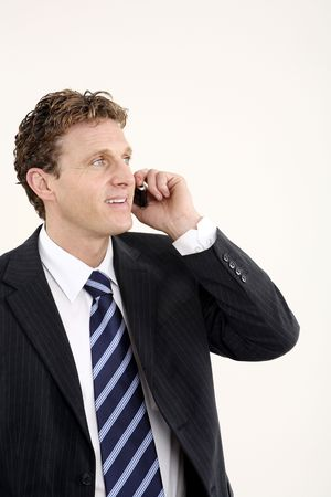 Businessman talking on the phone Stock Photo - 3198968