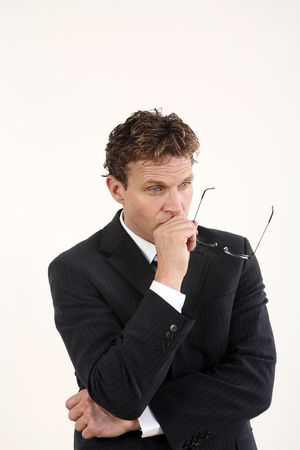 Businessman in deep thought Stock Photo - 3198919