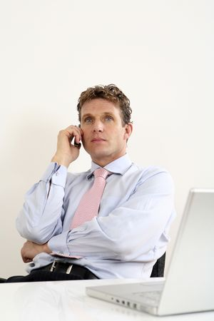 Businessman talking on the phone Stock Photo - 3198779