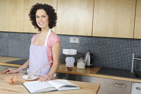 Woman getting ready to bake Stock Photo - 4107565