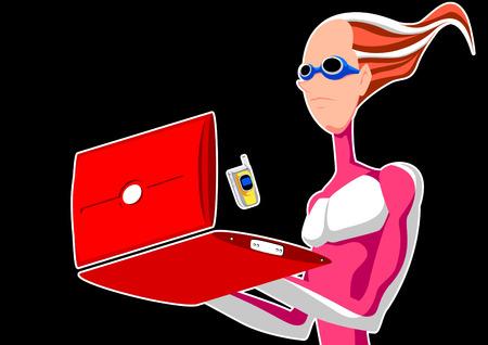 Futuristic animation Stock fotó - 4496984