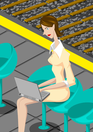 woman on phone: Corporate animation