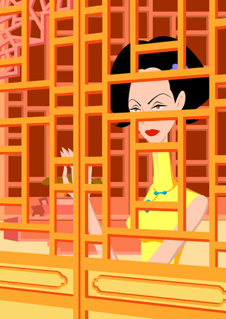 Oriental animation Illustration