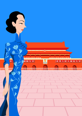fashion illustration: Oriental animation Illustration
