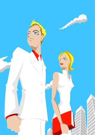 Dibujos animados con la carrera Vectores