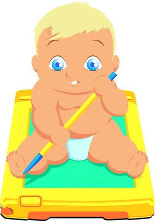Baby cartoon 矢量图像
