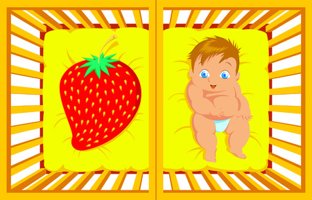 bambino: Baby cartoon Illustration