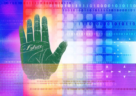 psd: Illustration of cyber world