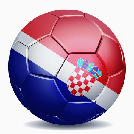 bandera de croacia: Croacia bandera en balón de fútbol