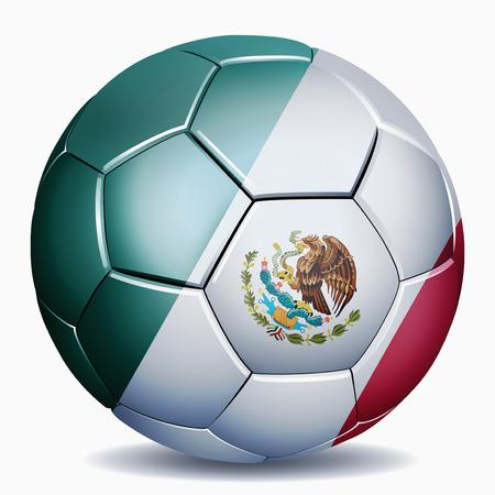 Mexico flag on soccer ball photo