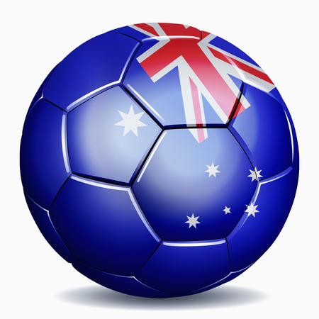 Australia flag on soccer ball Reklamní fotografie