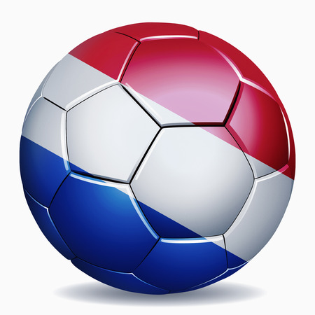 the netherlands: Netherlands flag on soccer ball