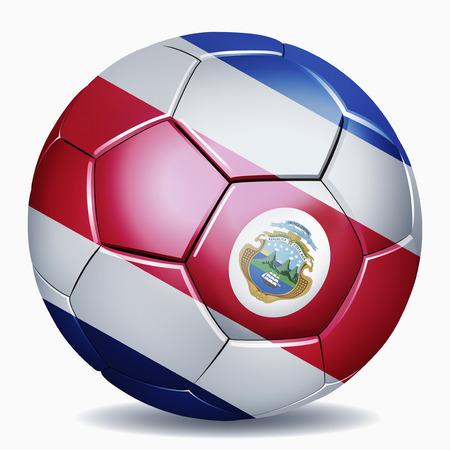 costa rica flag: Costa Rica flag on soccer ball