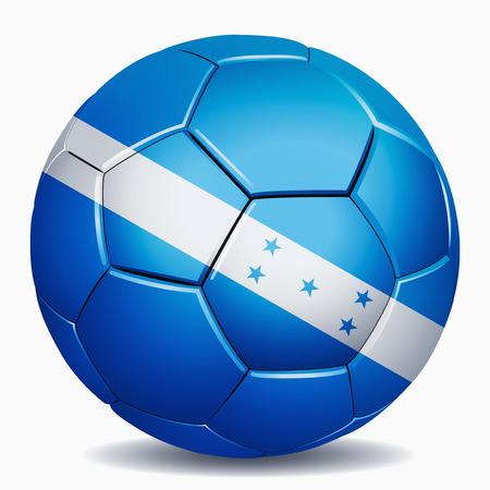bandera honduras: Bandera de Honduras en balón de fútbol Foto de archivo